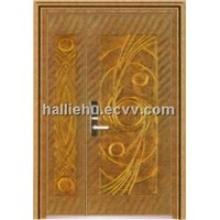 aluminum casting door with abstract Tai Chi parttern