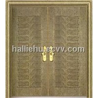 aluminum casting door with stair pattern