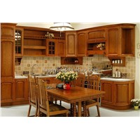 beech solid wood kitchen cabinet