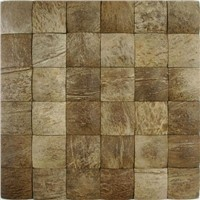 big square coconut mosaic wall tile for home decor