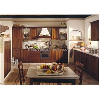 birch solid wood kitchen cabinet