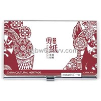 business cardcase holder,Chinese Paper Cutting picture,stainless steel