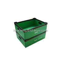 customized folding plastic corrugated box with grip,lid