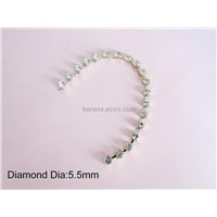 fashion diamond metal decoration chains for shoes garments