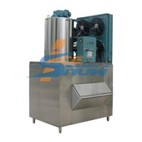 flake ice machine with bin