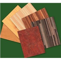 glossy wood grain polyester plywood / paper overlay plywood