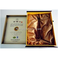 kuaijishan wine packing box with rigid cardboard