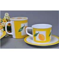 melamine cup and coaster