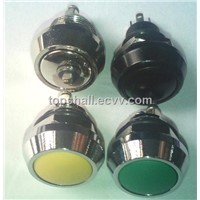 12mm black metal push button switch with plastic contact (push-button)