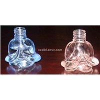 perfume glass bottle of rose shape