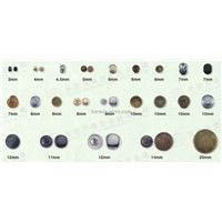 round various sizs metal rivets used on garments bags