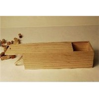 single slide wooden wine box