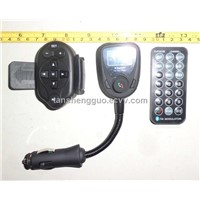 smallest car mp3 bluetooth with bend metal hose,LED screen,USB/TF card,Call ID display and so on,