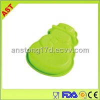 snowman shaped silicone bakeware