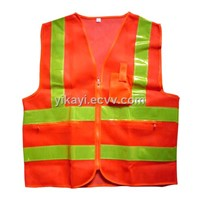 zipper closure safety vest
