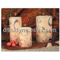 LED candles/ pillar candles with dual timer