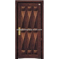Fire Proof Steel Wooden Security  Armored Door