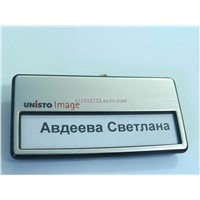 Magnetic Name Badge,metal label , metal name plate , metal sign