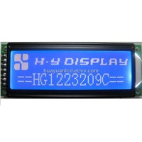 122x32 COB Serial Graphic  lcd module 1 with VDD= VLED = 3.3V and ST7920 Driver