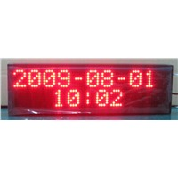 16X80pixel P7.62mm led time billboard