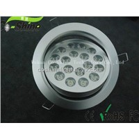 Install hole:139mm 18w led downlight 45degree 3500k or 6000k