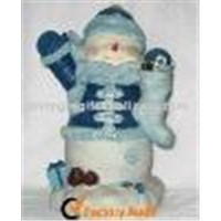 20cm Polyresin Snowman for Christmas Decorations