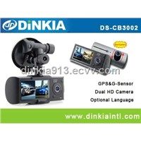 2Ch with screen car camera/car dvr  DS-CB3002