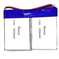 3.7V Lithium Polymer Rechargeable Battery Pack with 1,350mAh Nominal Capacity and Good Perfor