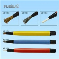 3pc Scratch Brush Set;Nylon, Brass, Metal