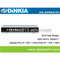 4 Channel Real Time H.264 Full D1 network CCTV DVR Recorder,support multi-language DS-DVR041D1