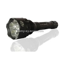 5 Cree-Super Power Rechargeable Led Flashlight / Hot sale Aluminum led torch