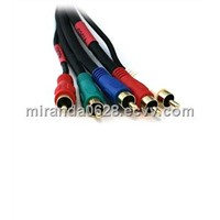 5-RCA Component Video/Audio Coaxial Cable (RG-59/U)