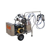 9J-I-type oil and electricity rotary vane vacuum pump milking trolley