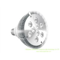 9pcs LED PAR38/par30 Can with E27 Base, 12W Power. 800 to 1,000lm Luminous Flux