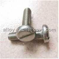 Alloy 20 Pan head slotted screw 2.4066