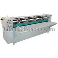 Automatic cardboard line pressing and slitting machine
