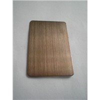 Bronze hairline stainless steel sheet