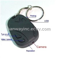 Car key camera with dvr