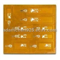 Double Layer Flexible PCB for Electronic with 1.0mm Thickness and 0.15mm Minimum Drill