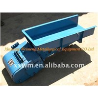 Electromagnetic vibratory feeder for batching and automatic weighing