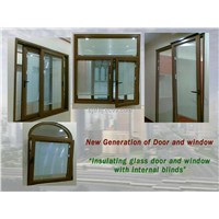 Energy-saving Products: insulating tempered glass doors and windows with internal blinds