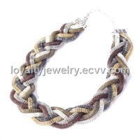 Fashion braided chain necklace-SN2105