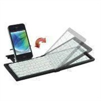 Foldable RF/Bluetooth Keyboard with 10m Operating Distance and GFSK Modulation System
