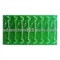 Four-layer PCB with Immersion Silver Surface Treatment, FR4 Base Material and 1.6mm Board Thickness
