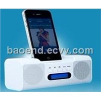 Free shipping digital speaker,portable,speaker with TF/U-disk sloct,FM & External battery TLS-039