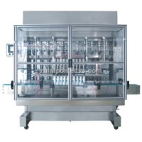 Full-automatic straight line type piston filling machine