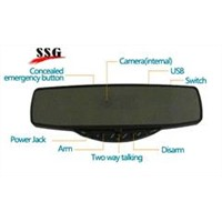 GPS car rearview mirror