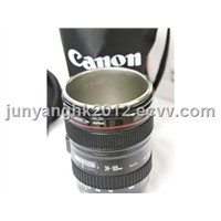 High Class Camera Lens Mug with Stainless Steel Inner and Bag