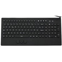 IP68 Industrial Silicone Keyboard with Built-In Mouse (X-RP104SD)