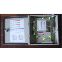 Indoor/Outdoor optic fiber cable distribution box with splitter